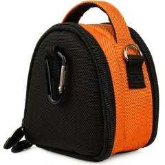 SumacLife Mini Laurel Compact Edition Nylon Camera Bag with Top Carrying Handle and Removable Shoulder Strap for Nikon Coolpix S100 / S8200 / S6200 / P300 / S6100 / S4100 / S3100 / L24 / S80 / S1100pj / S5100 / S8000 / S3000 / S4000 / L21 / L22 / S6000 / S1000pj / S70 / S640 / S630 / S620 / S230 / S220 / L19 / L20 / S60 / S560 / S610 / S710 / S52c / S550