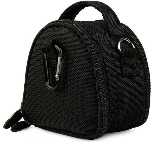 Black Limited Edition Camera Bag Carrying Case with Extra Accessory Compartment for Canon Power-Shot Point and Shoot Compact Digital Camera