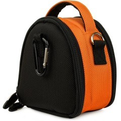Orange Limited Edition Camera Bag Carrying Case with Extra Accessory Compartment for Olympus Point and Shoot Digital Camera