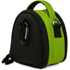 Green Limited Edition Camera Bag Carrying Case with Extra Accessory Compartment for Samsung Point and Shoot Digital Camera